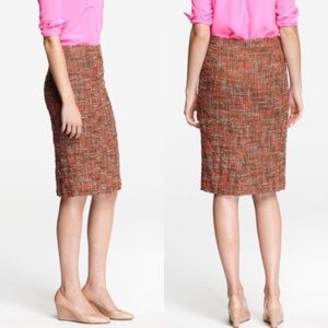 J.CREW Frayed Tweed Pencil Skirt 6